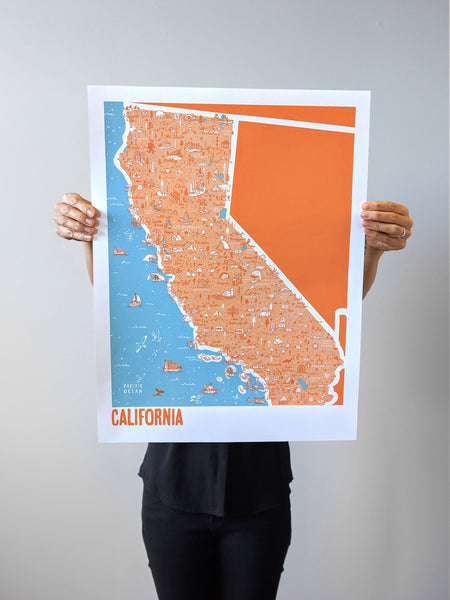 California Map Print by Brainstorm