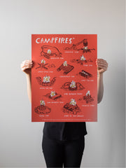 Campfires Print by Brainstorm
