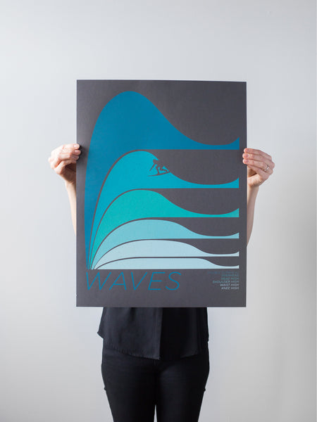Dark Waves Print by Brainstorm
