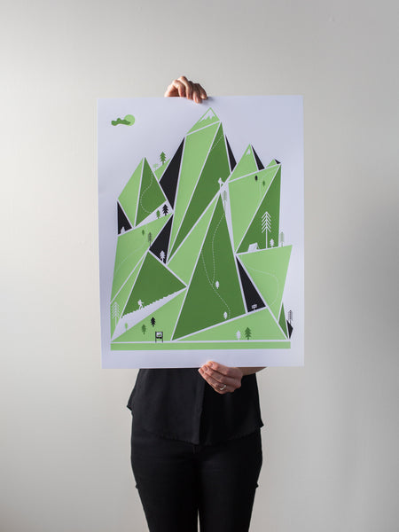 Mountain Hiking Print