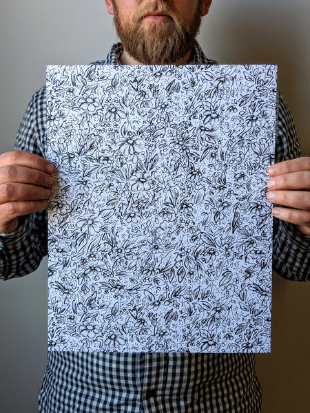 Simple Floral print by Brainstorm - Florals...for Spring...Groundbreaking.
