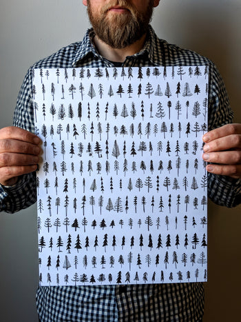 Simple Pines Print by Brainstorm - Pine Trees!