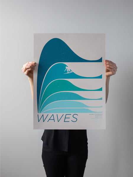 Waves Print by Brainstorm