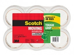 3M Scotch Tough Grip Moving Tape 50m - 6 pack