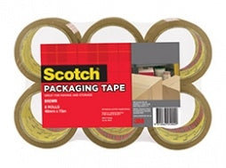 3M Scotch Packing Tape Brown - 6 Pack