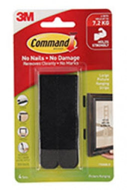 3M Command Large Picture Hanging Strip - 4 Pack