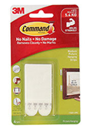 3M Command Picture Hanging Strips - 4 Pack