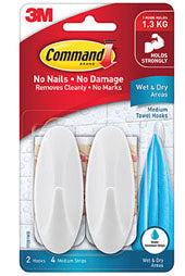 3M Command Medium Towel Hooks - 2 pack