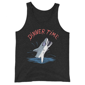 Dinner Time Funny Shark - Men's Tank Top