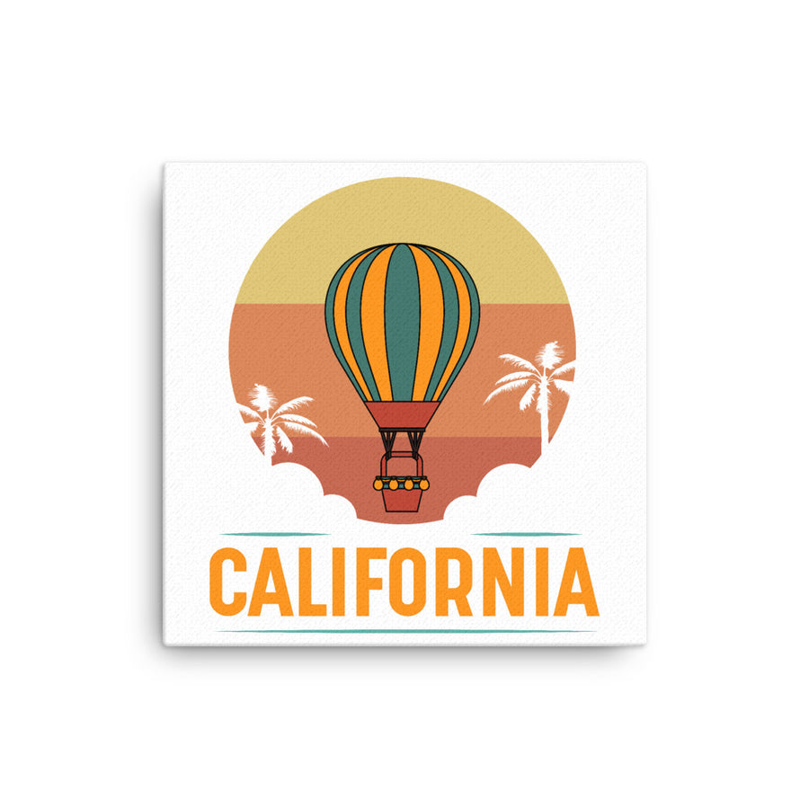 Vintage California Hot Air Balloon - Canvas Art