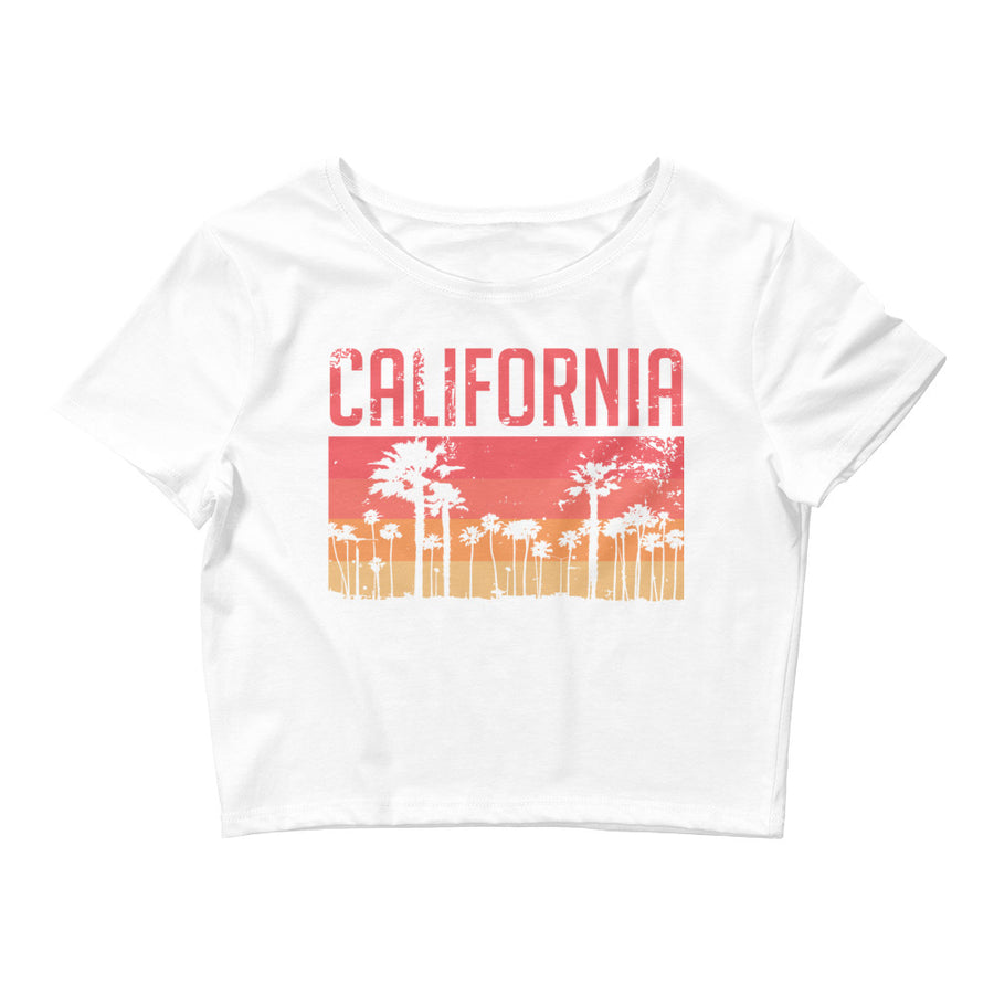 California Vintage Palms - Women's Crop Top