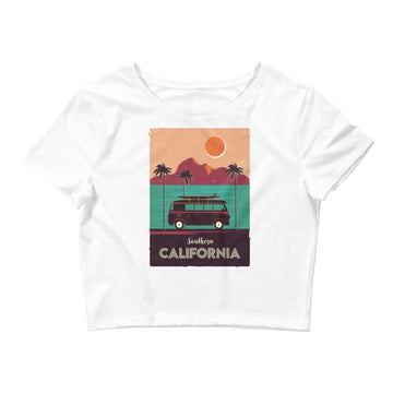 Southern California Beach Van - Women's Crop Top