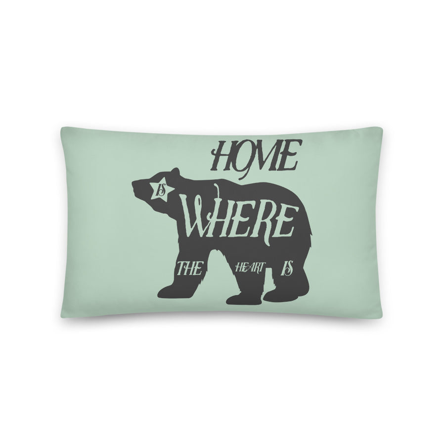 Home Is Where The Heart Is Bear - Throw Pillow