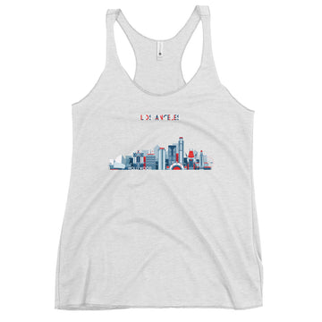 Los Angeles In Red White Blue - Women's Tank Top