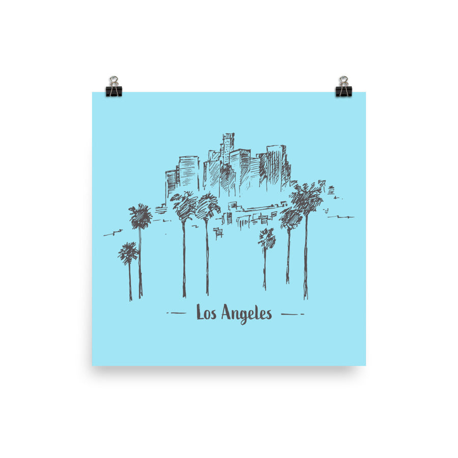 Hand Drawn Los Angeles - Poster