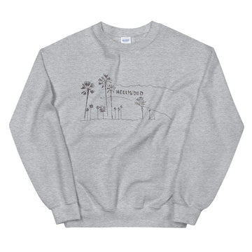 Hand Drawn Hollywood Sign - Men's Crewneck Sweatshirt