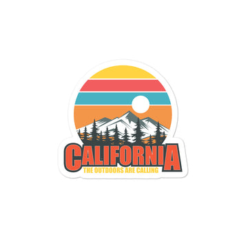 California The Outdoors Are Calling - Sticker