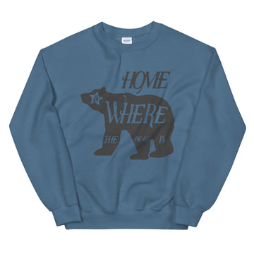 Home Is Where The Heart Is Bear - Men's Crewneck Sweatshirt