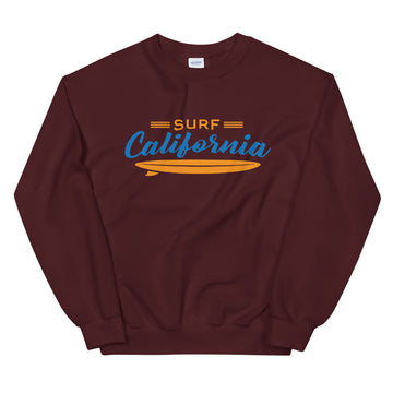 Surf California - Men's Crewneck Sweatshirt