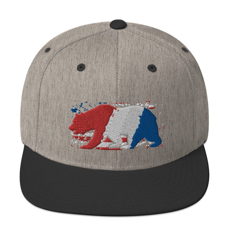 American Flag CA Bear- Hat