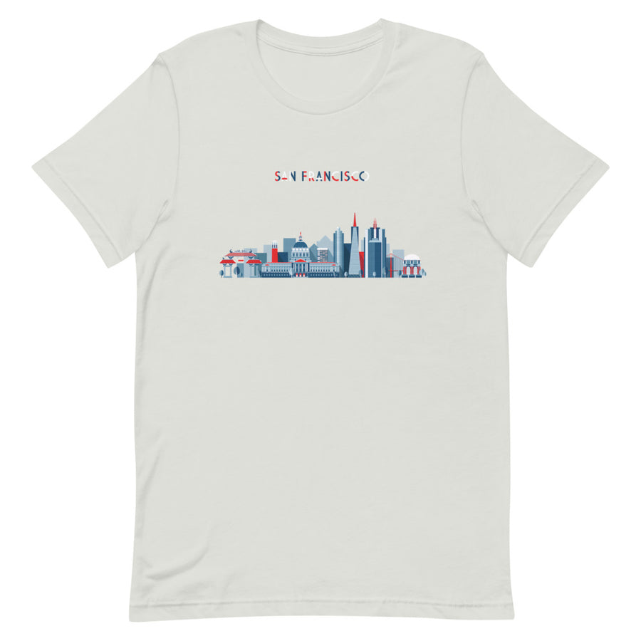 San Francisco In Red White Blue - Women's T-Shirt