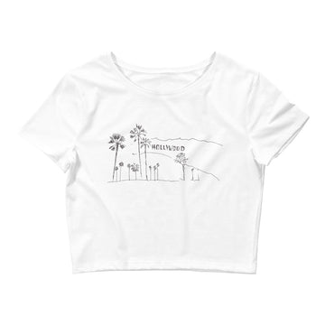 Hand Drawn Hollywood Sign - Women's Crop Top