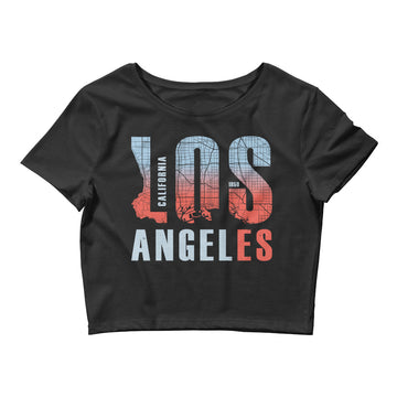 Los Angeles Map Style - Women's Crop Top
