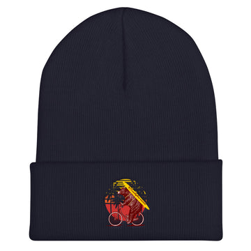 California Surfer Bear On Bike - Beanie