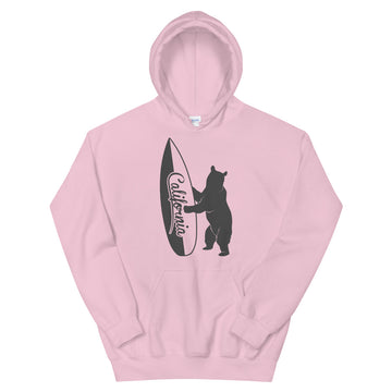 Bear With California Surfboard - Women's Hoodie