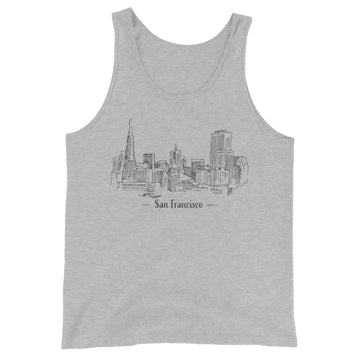 Hand Drawn San Francisco - Men's Tank Top