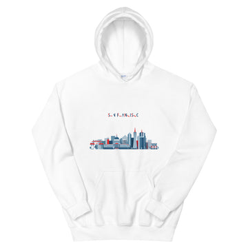 San Francisco In Red White Blue - Men's Hoodie