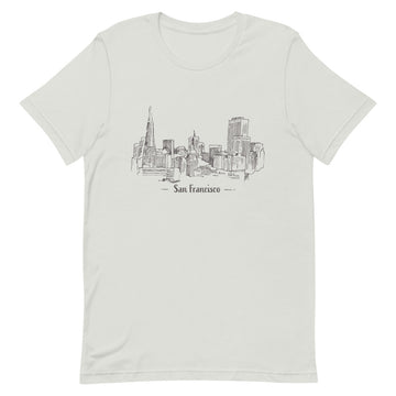 Hand Drawn San Francisco - Men's T-Shirt