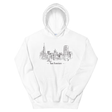Hand Drawn San Francisco - Women's Hoodie