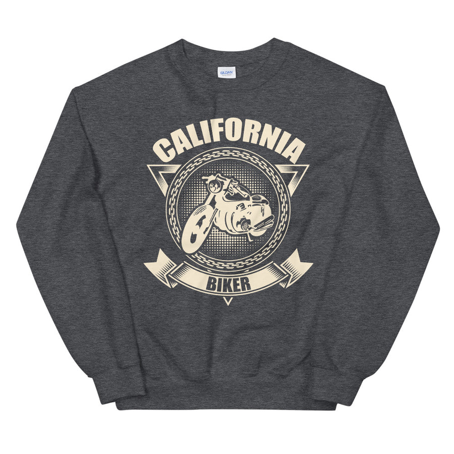 California Biker Motorcycle - Men's Crewneck Sweatshirt