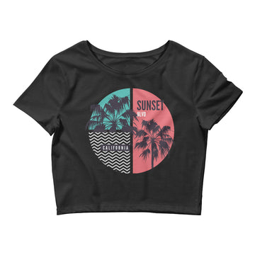 California Sunset Boulevard - Women's Crop Top