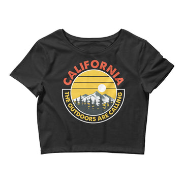 California Outdoor Mountain Sunset - Women's Crop Top