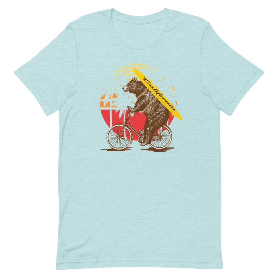 California Surfer Bear On Bike - Women's T-Shirt