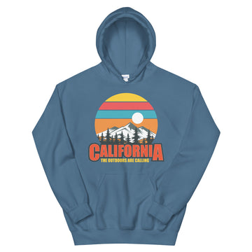California The Outdoors Are Calling - Women's Hoodie