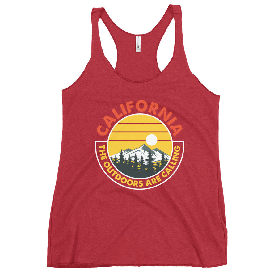 California Outdoor Mountain Sunset - Women's Tank Top