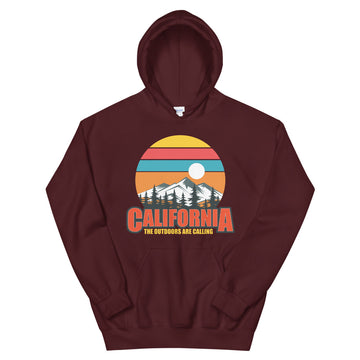 California The Outdoors Are Calling - Men's Hoodie