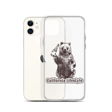 California Lifestyle Beer Bear - iPhone Case