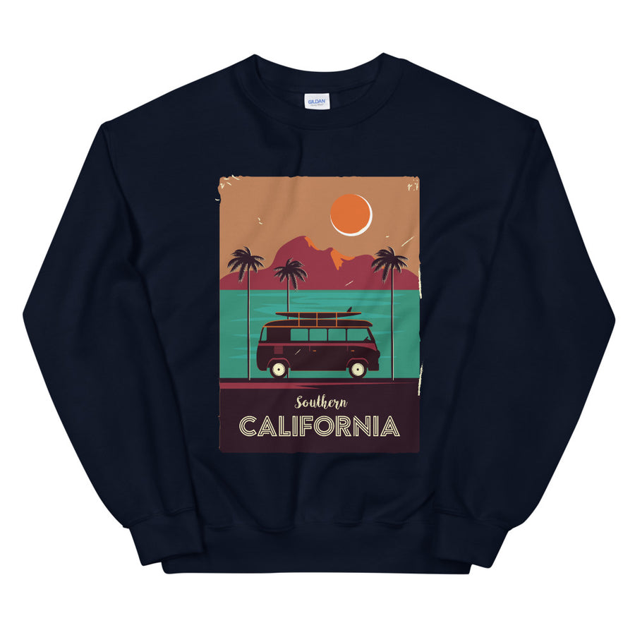 Southern California Beach Van - Men's Crewneck Sweatshirt