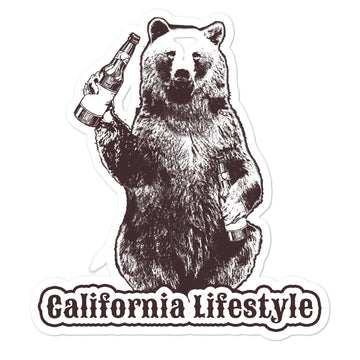 California Lifestyle Beer Bear - Stickers