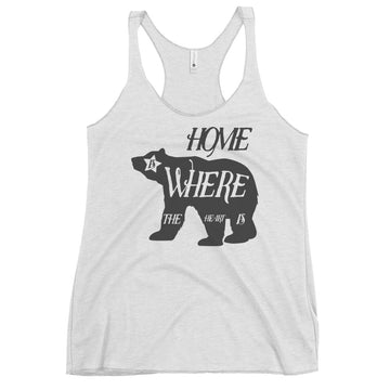 Home Is Where The Heart Is Bear - Women's Tank Top