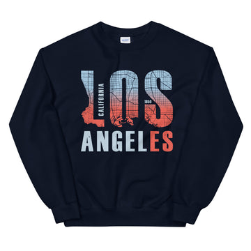 Los Angeles Map Style - Men's Crewneck Sweatshirt