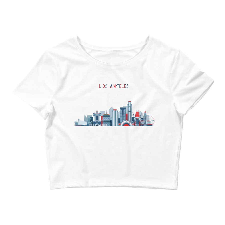 Los Angeles In Red White Blue - Women's Crop Top