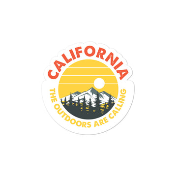 California Outdoor Mountain Sunset - Stickers