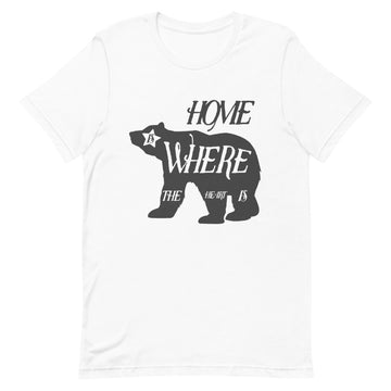 Home Is Where The Heart Is Bear - Men's T-shirt