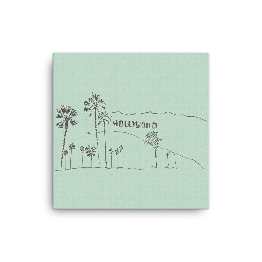 Hand Drawn Hollywood Sign - Canvas Art