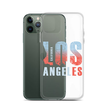 Los Angeles Map Style - iPhone Case